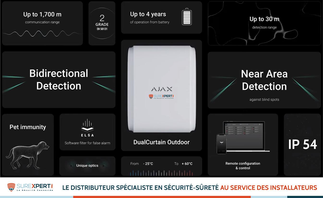 DualCurtain Outdoor AJAX : le détecteur rideau double faisceau